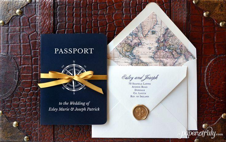 Thiệp cưới hiện đại - thiết kế theo chủ đề du lịch