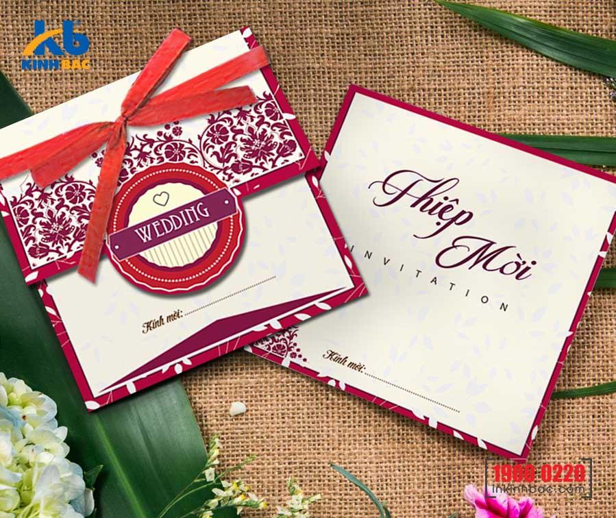 Thiệp cưới sang trọng: Câu chuyện của sự tinh tế và ngọt ngào