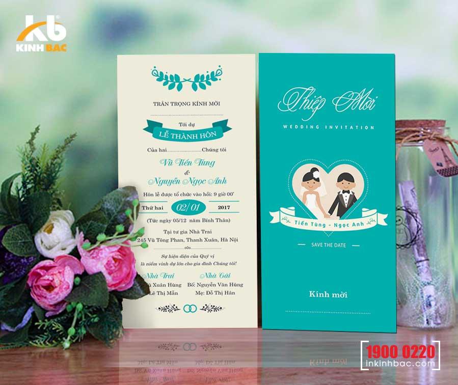 Lựa chọn mẫu thiệp cưới hiện đại cho lễ cưới