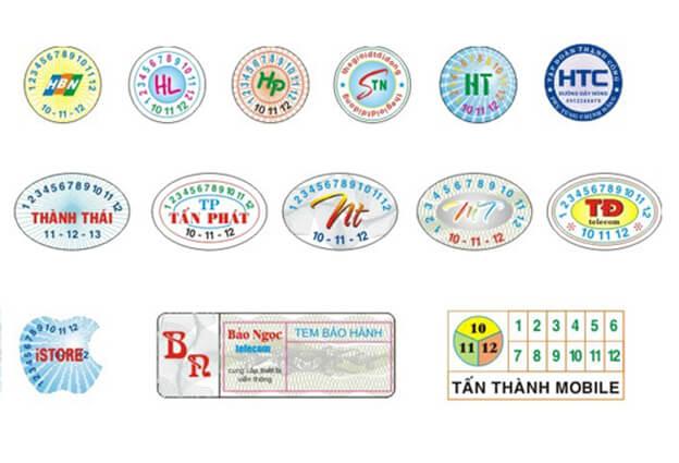 In tem bảo hành giá rẻ tại Hà Nội với giá 50đ