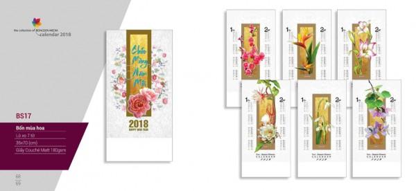 Lịch lò xo 7 tờ 2018 - BS17