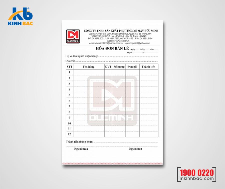 In hóa đơn - HDKB01