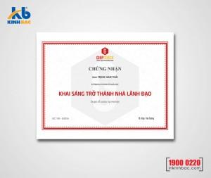 In giấy khen chứng chỉ - GKCC01