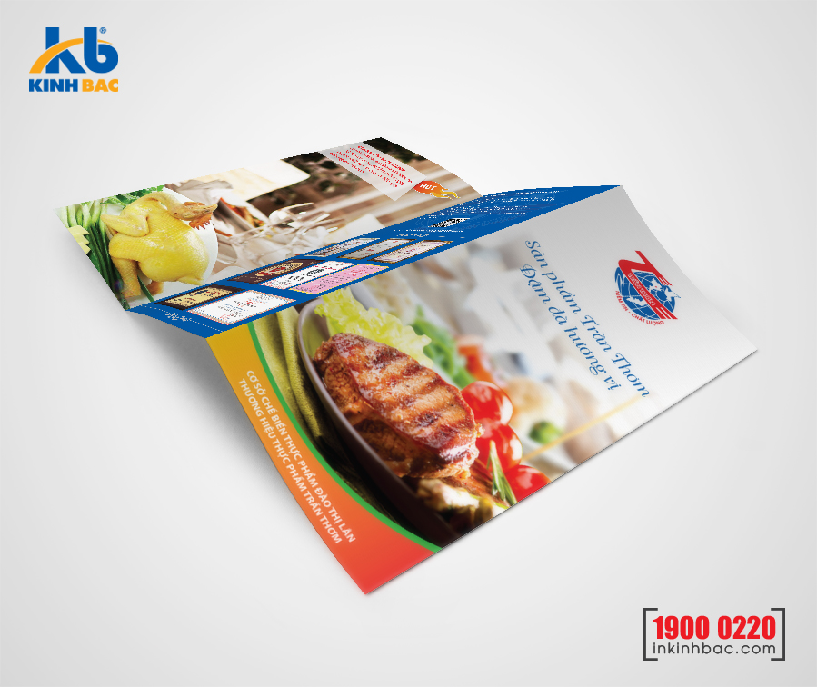 In tờ gấp A4  - Giấy C150 gsm