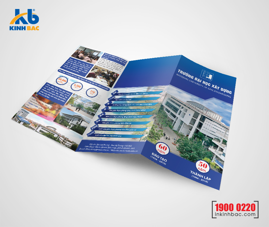In tờ gấp A4  - Giấy C200 gsm