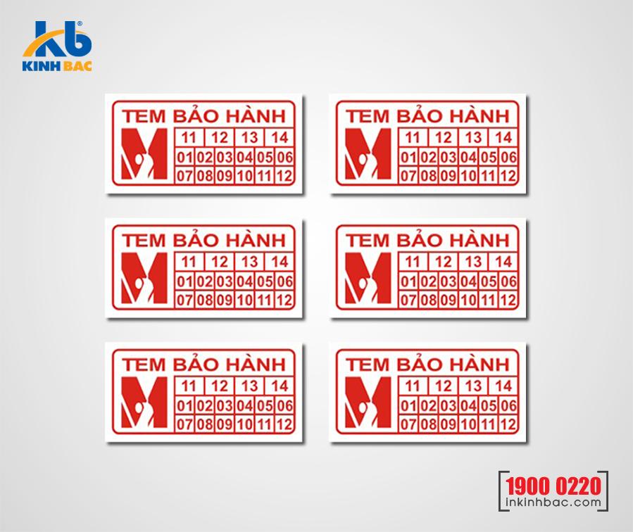 In tem bảo hành - BHKB15