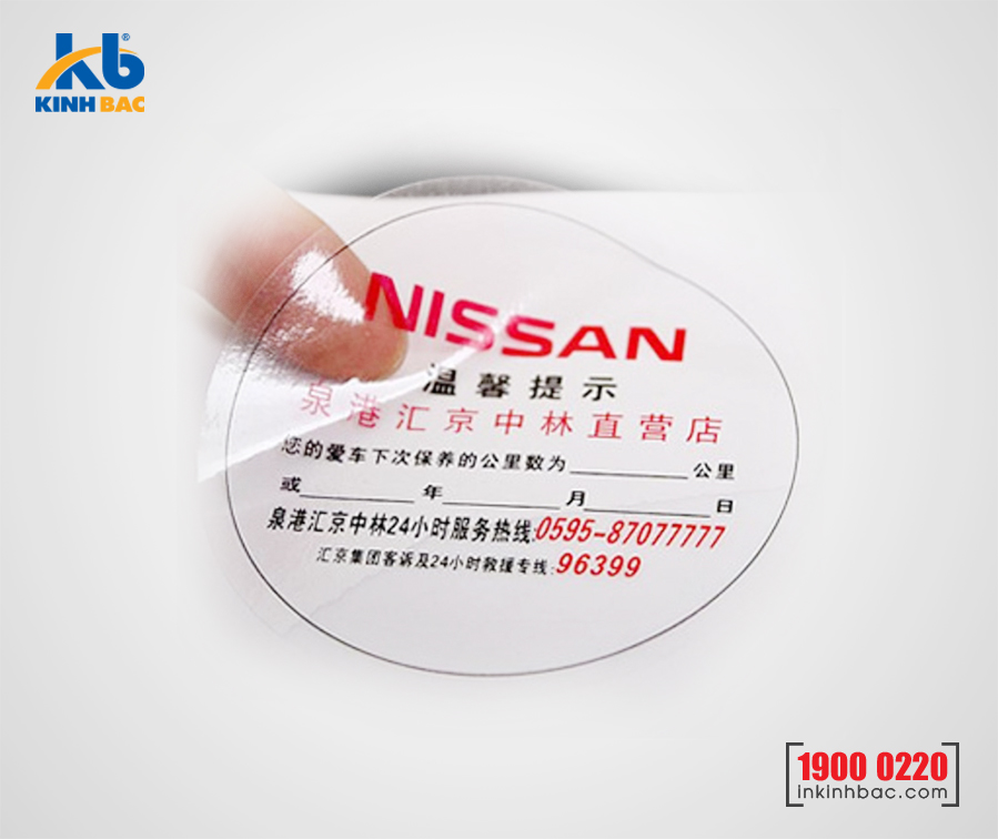 In tem Decal Nhựa trong - DNT7