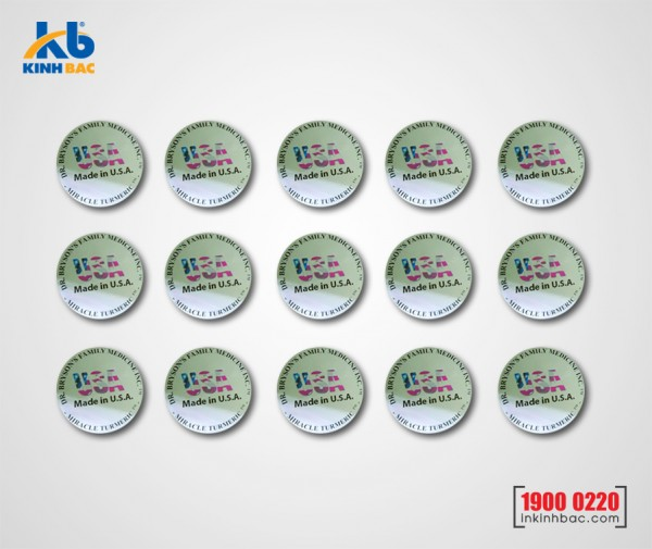 In tem decal nhựa đục - DND4