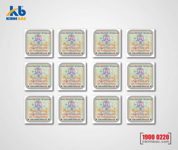In tem chống hàng giả - TKB12
