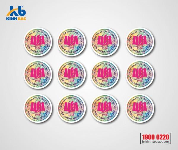 In tem chống hàng giả - TKB09