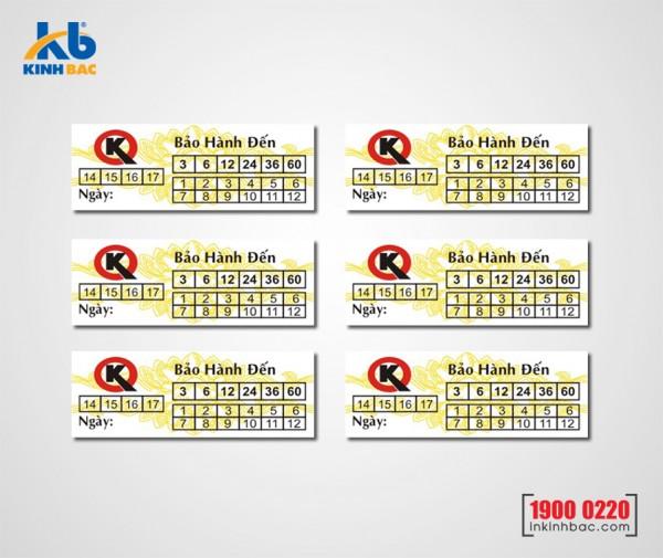 In tem bảo hành - BHKB14