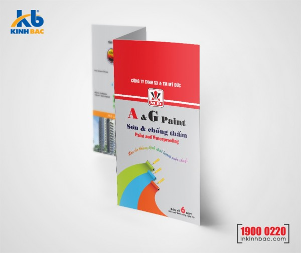 In tờ gấp A4 - Giấy C80 gsm