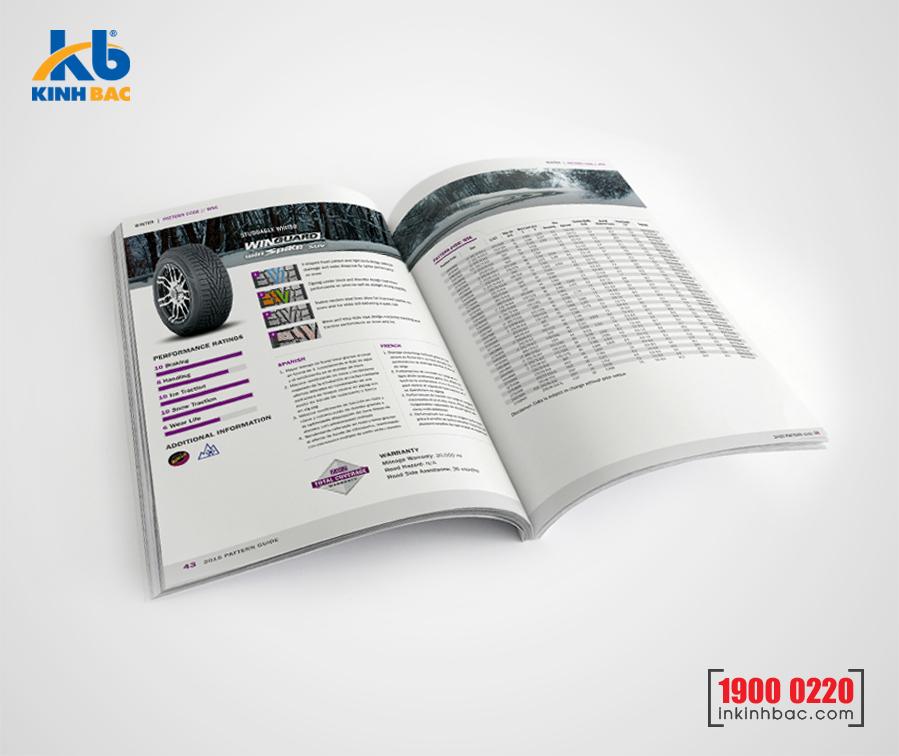 In catalogue A5 - 12 trang