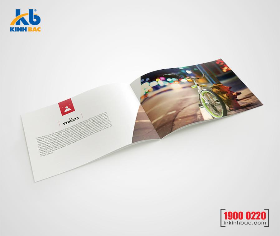 In catalogue A4 khổ ngang -16 trang