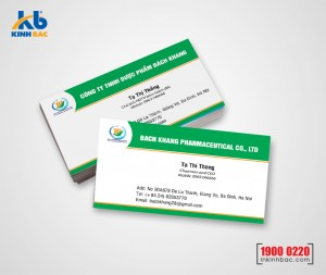 In danh thiếp, Name card - DTNC20