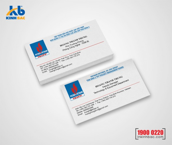 In danh thiếp, Name card - DTNC3