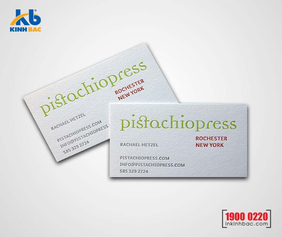 In card visit giấy mỹ thuật giá rẻ tại Hà Nội