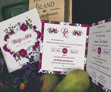Thiệp cưới Vintage cho đám cưới thêm phần lãng mạn